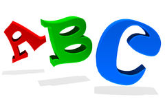 3d ABC stock illustratie