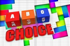 3d abc alphabet choice Royalty Free Stock Photography