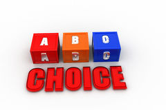 3d  abc choice Stock Image