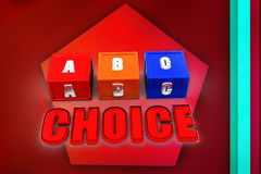 3d  abc choice illustration Stock Photography