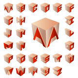 3D abc Royalty Free Stock Images