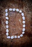 'd' abecadło zrobił formularzowemu bielu kamieniowi Obraz Royalty Free