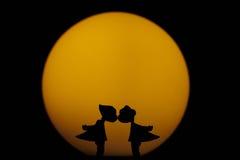 Premier baiser Photo libre de droits