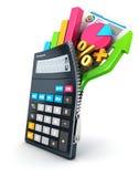 3d abren la calculadora stock de ilustración