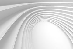 3d Abstract Architecture Background. White Circular Building Stock Image