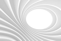 3d Abstract Architecture Background. White Circular Building Royalty Free Stock Photos