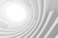 3d Abstract Architecture Background. White Circular Building Royalty Free Illustration