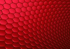 3d abstract backdrop in red hexagon Royalty Free Stock Photography