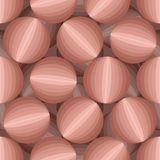 3D abstract background of balls. Seamless pattern from round obj. Ects Royalty Free Stock Photos