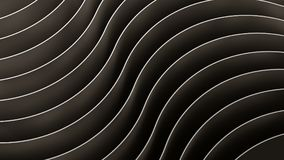 3d abstract background. Black Waves and curves. 3d abstract background Waves and curves composition Stock Photos