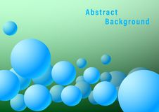 3D Abstract Background blue Balls royalty free illustration