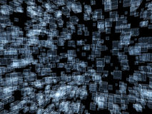 3d abstract background. Blue cubes on black background Royalty Free Stock Images
