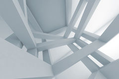 3d Abstract background, chaotic braced construction Stock Images