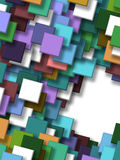 3d abstract background. Colorful background overlapping Squares 3d Stock Image