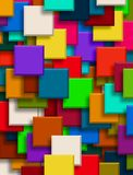 3d abstract background. Colorful background overlapping Squares 3d Royalty Free Stock Photo