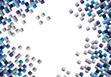 3d abstract background. 3d cube abstract background illustration Stock Photography