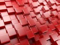 3d abstract background of cubes Stock Photo