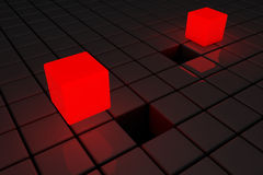 3d abstract background of cubes. Royalty Free Stock Image
