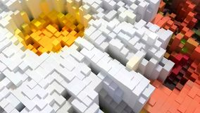 3d abstract background of cubes. Of different colors. 3d illustration Stock Image