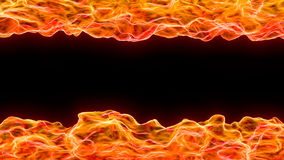 3d abstract background of flame and heat wave Stock Images