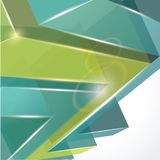 3d abstract background. 3d abstract glass blue and green background Royalty Free Stock Photo