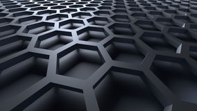 3D abstract background. 3D gray color abstract cellular lattice background Stock Images