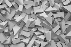 3D abstract background. Illustration of geometric stones. 3D rendering abstract background. Illustration of gray geometric stones Stock Photography