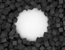 3D abstract background. Illustration of geometric stones. 3D rendering abstract background. Illustration of black white geometric stones Stock Photography