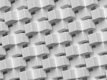 3D abstract background. Illustration of geometric stones. 3D rendering abstract monochrome geometric background. Illustration of gray cube Stock Images