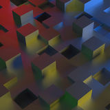 3D abstract background. 3D illustration of a multicolored abstract background Stock Images