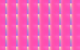 3D abstract background of  Pink , violet and yellow interacting rectangles in a pattern. Vector seamless pattern of bright pink rectangles over yellow and violet Royalty Free Stock Photography