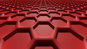 3D abstract background. 3D red color abstract cellular lattice background Stock Image