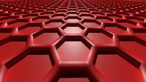 3D abstract background. 3D red color abstract cellular lattice background Royalty Free Stock Images