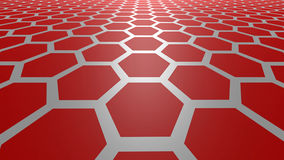 3D abstract background. 3D red color abstract cellular lattice background vector illustration