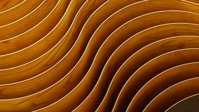 3d abstract background. Wooden Waves and curves. 3d abstract background Waves and curves composition Royalty Free Stock Photo
