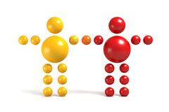 3D abstract. Ballman  characters  on a white background Royalty Free Stock Photos
