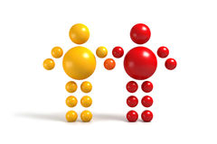 3D abstract. Ballman  characters  on a white background Royalty Free Stock Image