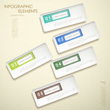 3d abstract banner infographics Stock Photography