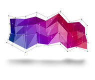 3d abstract banner for your text Royalty Free Stock Photos