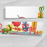 3D Abstract Banners With Place For Your Text. Royalty Free Stock Photo