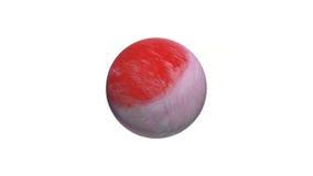 3D abstract beeld van aarde - bol planeet, overzees en oceanen Royalty-vrije Stock Foto's
