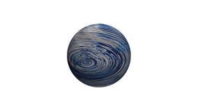 3D abstract beeld van aardeplaneet, overzees en oceanen Stock Afbeelding