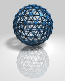 3d abstract blue ball modern technology background Stock Photography