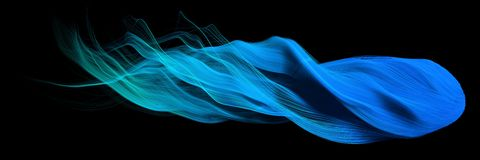 3d abstract with blue lines. comet form version Royalty Free Stock Images