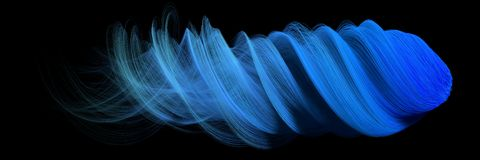 3d abstract with blue lines. comet form version Royalty Free Stock Photography