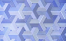 3D. Abstract blue metal background. Geometric hexagons. The Color Is Different. stock photos