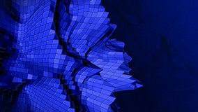 3d abstract blue plastic plexus background Stock Photo