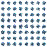 3d abstract blue purple spiked shape pattern on white Stock Images