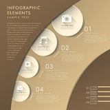 3d abstract chart infographics Royalty Free Stock Images