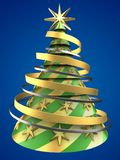 3d abstract Christmas tree Stock Photos